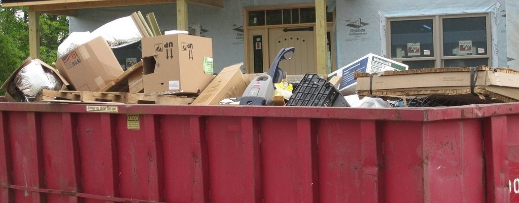 What type of waste can go in a dumpster